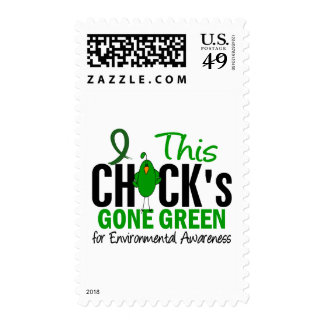 ENVIRONMENTAL Chick Gone Green Postage