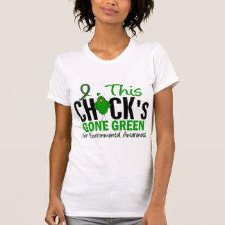 ENVIRONMENTAL Chick Gone Green Tshirts