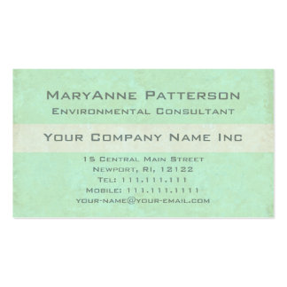 Environmental Consultant Green Business Modern Double-Sided Standard Business Cards (Pack Of 100)
