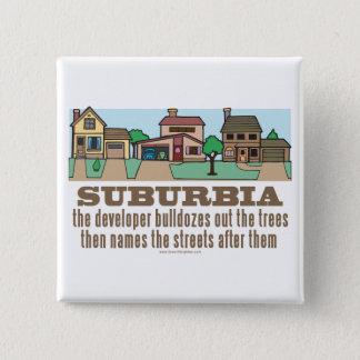 Environmental Curb Suburban Sprawl Button