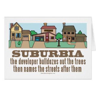 Environmental Curb Suburban Sprawl Card
