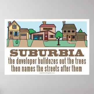Environmental Curb Suburban Sprawl Poster
