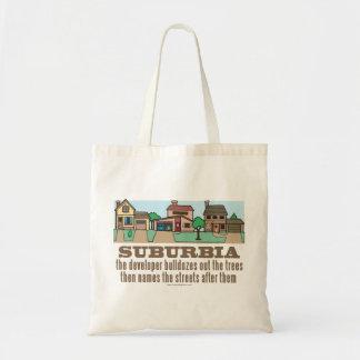 Environmental Curb Suburban Sprawl Tote Bag