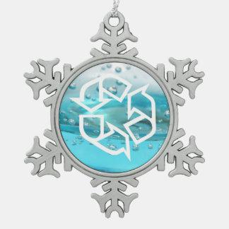 Environmental Designs Snowflake Pewter Christmas Ornament