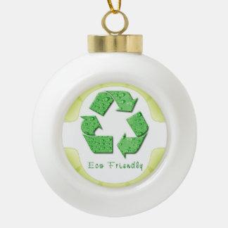 Environmental Designs Ceramic Ball Christmas Ornament