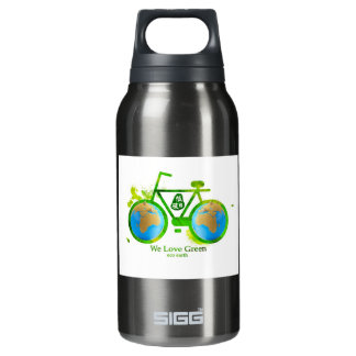 Environmental eco-friendly green bike beer stein 10 oz insulated SIGG thermos water bottle