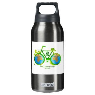 Environmental eco-friendly green bike beer stein insulated water bottle