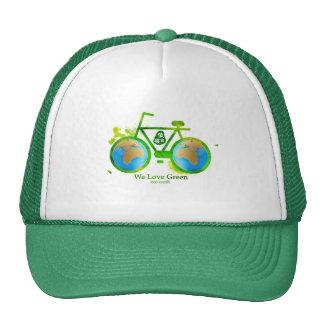 Environmental eco-friendly green bike cap man girl trucker hat