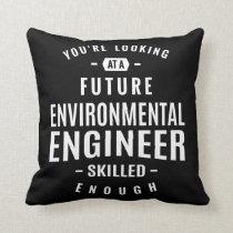 Environmental Engineer Throw Pillow