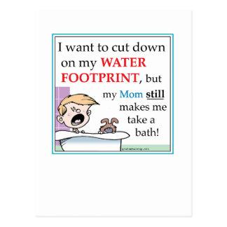Environmental footprint by harrop postcard