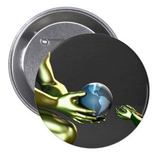 Environmental Friendly Awareness for Children Pinback Button