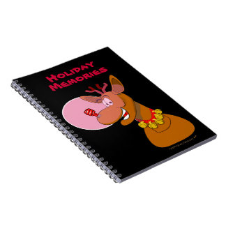 Environmental Funny Reindeer Xmas Custom Spiral Notebook