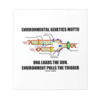 Environmental Genetics Motto DNA Loads Environment Note Pads