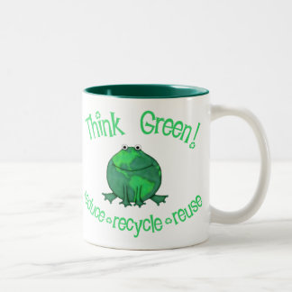 Environmental Green Frog Coffee Mug