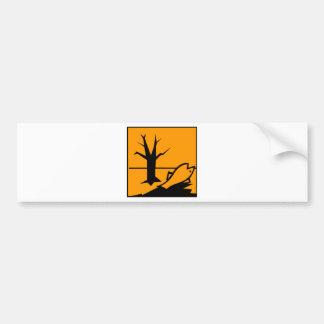 Environmental Hazard Symbol Bumper Sticker