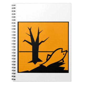 Environmental Hazard Symbol Spiral Note Book