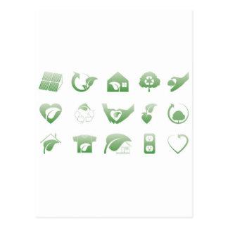 environmental icons 1 postcard