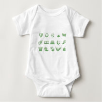 environmental icons 3 baby bodysuit