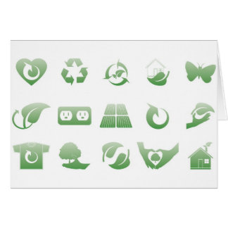 environmental icons 3 card