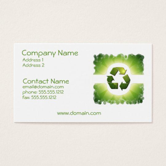 Environmental Issues Business Card