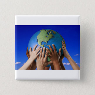 Environmental Issues Save The World Pinback Button