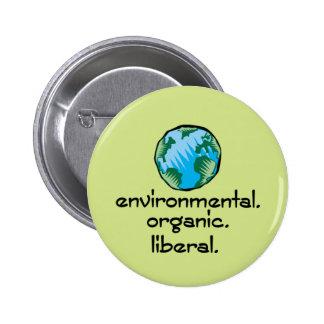 Environmental Liberal Button