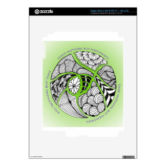 Environmental Mantra for Hikers & Mountain Climber iPad 3 Skins