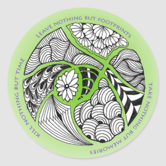 Environmental Mantra for Hikers Mountain Climber Round Sticker