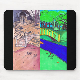 Environmental Opposites Mouse Pads