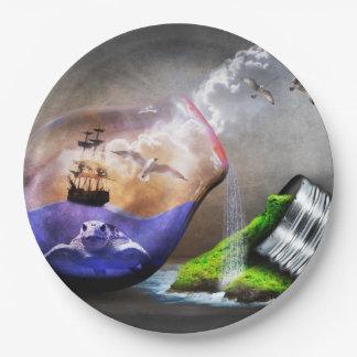 Environmental Protection Awareness Paper Plate