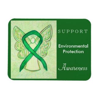 Environmental Protection Awareness Ribbon Magnet