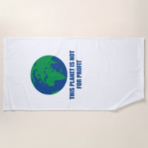environmental protection beach towel