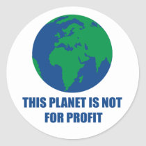 environmental protection classic round sticker
