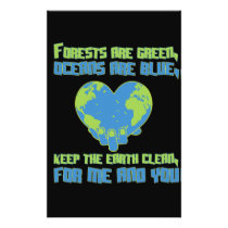 Environmental protection climate protection nature flyer