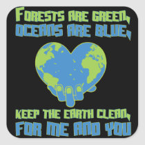 Environmental protection climate protection nature square sticker