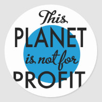 Environmental Protection - planet emergency for Classic Round Sticker