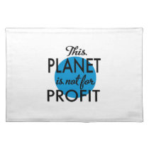 Environmental Protection - planet emergency for Cloth Placemat