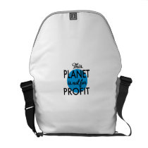 Environmental Protection - planet emergency for Courier Bag