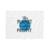 Environmental Protection - planet emergency for Fleece Blanket