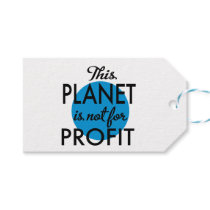 Environmental Protection - planet emergency for Gift Tags