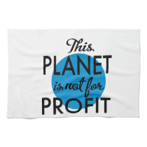 Environmental Protection - planet emergency for Hand Towel