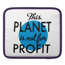 Environmental Protection - planet emergency for iPad Sleeve