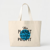 Environmental Protection - planet emergency for Large Tote Bag