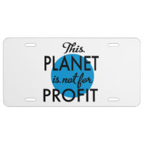 Environmental Protection - planet emergency for License Plate
