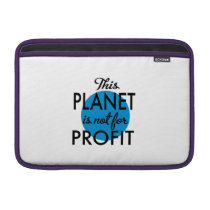 Environmental Protection - planet emergency for MacBook Air Sleeve