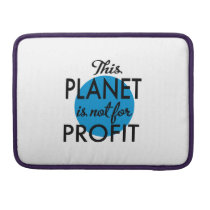 Environmental Protection - planet emergency for MacBook Pro Sleeve