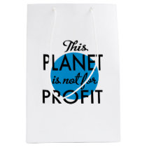 Environmental Protection - planet emergency for Medium Gift Bag