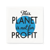 Environmental Protection - planet emergency for Napkin