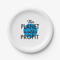 Environmental Protection - planet emergency for Paper Plate