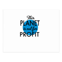 Environmental Protection - planet emergency for Postcard